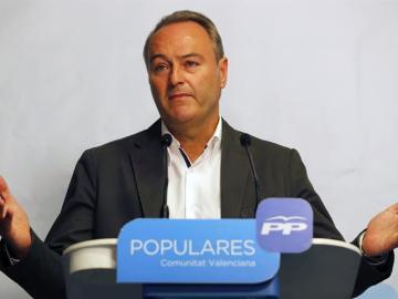 El candidato del PP a la presidencia de la Generalitat, Alberto Fabra