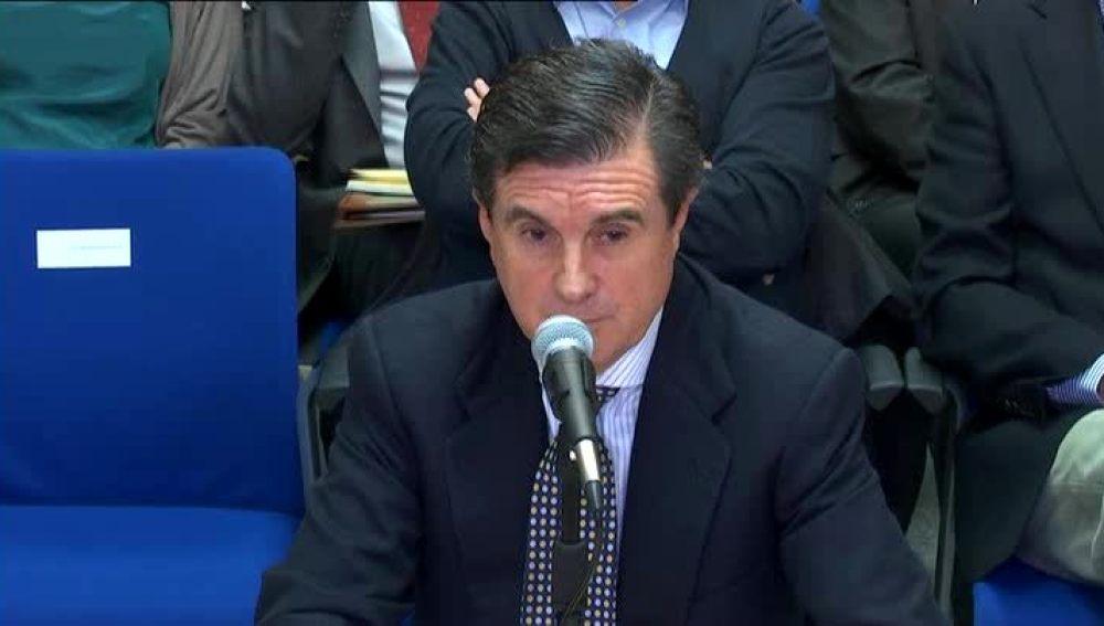Jaume Matas declarando en el juicio del caso Nóos
