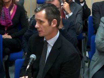 Iñaki Urdangarin declarando ante el juez