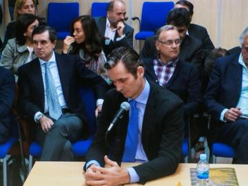 Iñaki Urdangarin, durante la tercera jornada de declaración