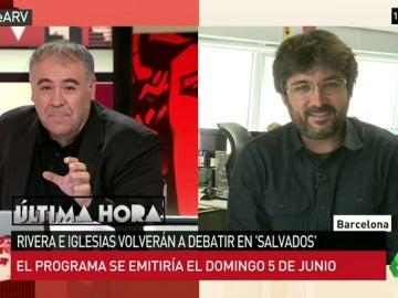 """Jordi Évole: """"Salvados ha lanzado hilos a todos los partidos y de algunos no hemos recibido ni respuesta"""""""