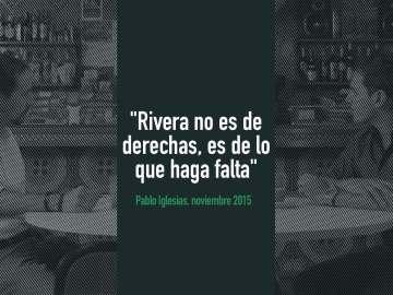 """Pablo Iglesias: """"Rivera no es de derechas, es de lo que haga falta"""""""