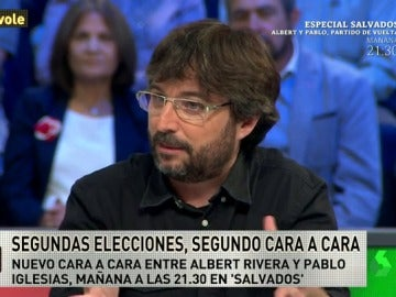 """Jordi Évole: """"Hicimos un grupo de Whatsapp con Rivera, Iglesias que se llamaba 'el espíritu del Tío Cuco'"""""""