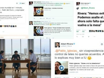 Albert Rivera y Pablo Iglesias se enzarzan en Twitter antes del cara a cara de Salvados