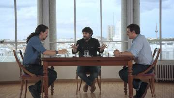 """La llamada de atención de Évole a Rivera e Iglesias: """"¿De verdad que queréis seguir con este tono el debate?"""""""