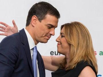 Susana Díaz y Pedro Sánchez abren una guerra por liderar el futuro del Partido Socialista