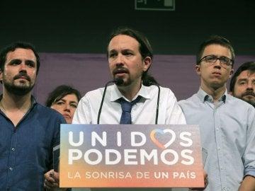 """Pablo Iglesias: """"Los resultados no son satisfactorios, nos preocupa la pérdida de apoyos del bloque progresista"""""""