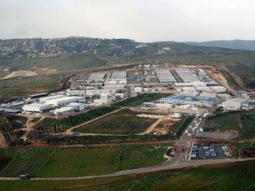 Vista aérea de la base española Miguel de Cervantes en Marjayún, en el sur de Líbano