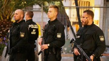 Policía en Múnich tras el tiroteo