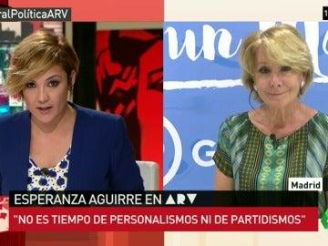 """Aguirre: """"No es tiempo de personalismos ni de partidismos, hay que poner por delante el interés de España"""""""