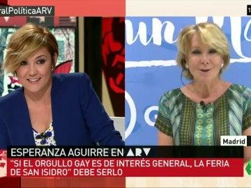 """Esperanza Aguirre: """"Si el Orgullo es de interés general la Feria de San Isidro debe de serlo para evitar las multas"""""""
