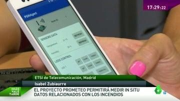 El Proyecto Prometeo permitirá medir en el momento datos sobre los incendios que facilitarán su extinción