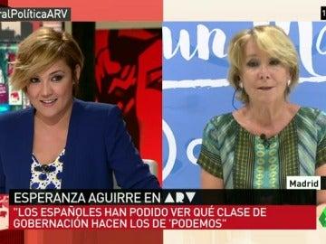 """Esperanza Aguirre: """"Con Ahora Madrid los españoles han visto qué Gobierno hace Podemos"""""""
