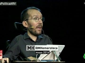 Maldita Hemeroteca recuerda las críticas de Echenique hace dos meses a los contratos sin Seguridad Social