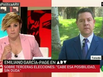 """Emiliano García-Page: """"Sin duda existe la posibilidad de que vayamos a terceras elecciones"""""""