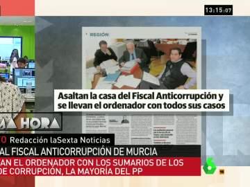 Roban el ordenador del fiscal Anticorrupción de Murcia con todos los casos de corrupción dentro