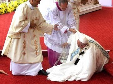 La caída del Papa.