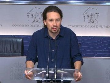 """Pablo Iglesias: """"El PSOE debe decidirse entre apoyar a Rajoy, elecciones o un gobierno alternativo"""""""