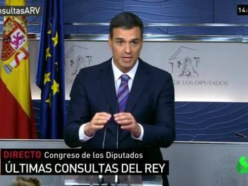 """Pedro Sánchez: """"El PSOE va a hacer una oposición leal y útil"""""""
