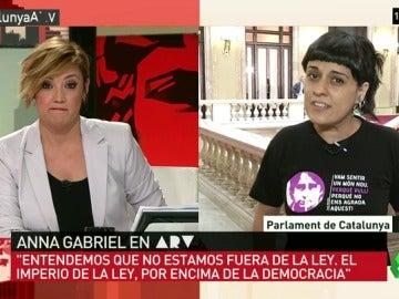 """Anna Gabriel: """"Parece que el imperio de la ley está por encima de la democracia en España"""""""