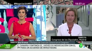 """Ana Oramas: """"Si hay voluntad política del PP, cerrarán un acuerdo con Ciudadanos y con Coalición Canaria"""""""