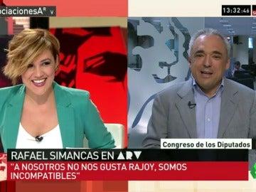 """Rafael Simancas: """"Rajoy es el del 'Luis sé fuerte', el de la reforma laboral... no vamos a replantearnos el voto"""""""