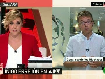 """Íñigo Errejón: """"Si Rajoy no sale, se abre una segunda oportunidad, tenemos que ser generosos"""""""