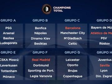 El Madrid, contra el Dortmund; el Barça, ante el City; el Atleti se medirá al Bayern y el Sevilla, a la Juve