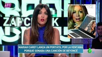 El zapcheck de Lorena Castell: ¿Mariah Carey lanza un ordenador porque sonaba Beyoncé?