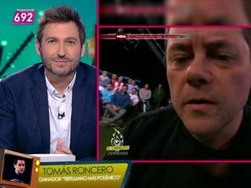 """'Bruce Roncero' ganador del premio Zapeando a tertuliano más polémico: """"No me lo esperaba"""""""