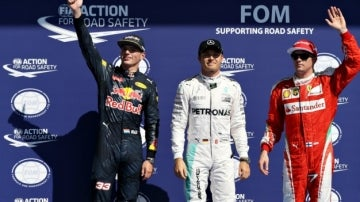 Rosberg, Verstappen y Raikkonen, los más rápidos de la Q3