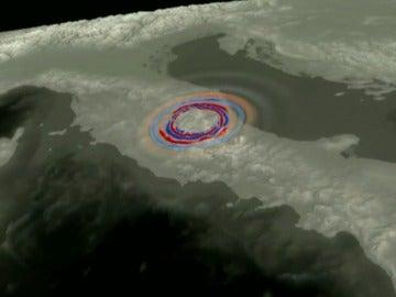 Una simulación en 3D muestra la evolución del terremoto de Italia a través de la superficie terrestre del país