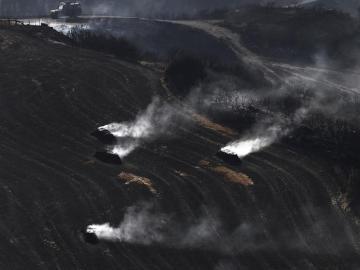 El incendio de Tafalla, en Navarra, se encuentra estabilizado, pero no controlado