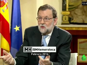 """Rajoy tildó de """"ficticio e irreal"""" el intento de Sánchez y un """"absurdo ir a la investidura sin apoyos"""", ahora pacta con C's"""