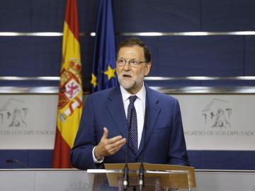 """Mariano Rajoy: """"Iré a la investidura con 170 votos y seguiré intentándolo con el PSOE, que tiene la llave"""""""