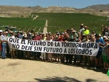 Protesta contra la expropiación forzosa en Cuevas de Almanzora