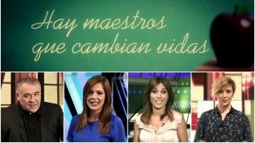 Hay maestros que cambian vidas... Cristina Pardo, Helena Resano, Mamen Mendizábal y García Ferreras recuerdan a los suyos