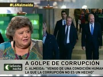 """Cristina Almeida: """"Que no nos tachen a todos de corruptos porque no es verdad"""""""