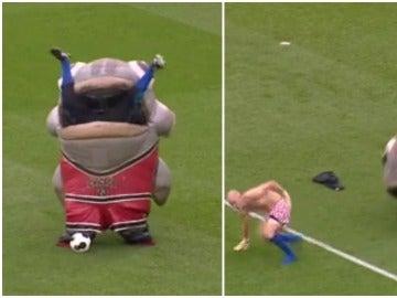 Un pez 'se come' a un hombre en el campo del Derby County ante el delirio de la afición