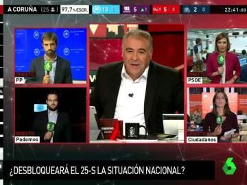 """Ferreras: """"Sale Cospedal tras el triunfo del PP en Galicia y no Pablo Casado, que es el que se come los marrones"""""""