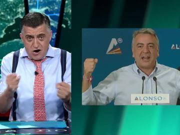 """La 'lección de vida' de Javier de Andrés: """"¡Ese es el espíritu!, que la realidad no te arruine una fiesta electoral"""""""