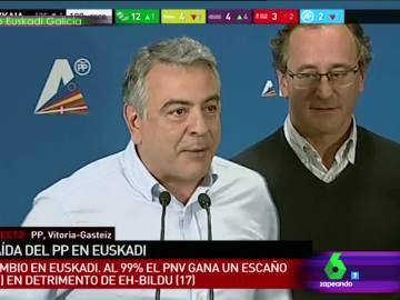 """La 'carica' de Alfonso Alonso de """"afloja rey que te estás viniendo muy arriba"""" ante las palabras de Javier de Andrés"""