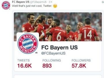 El Bayern contesta a la sugerencia para seguir a Simeone en Twitter