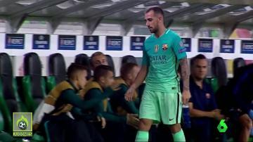 Luis Suárez recriminó a Alcácer
