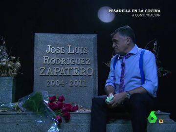 """Wyoming visita la tumba de Zapatero en plena crisis del PSOE: """"Estáis dando la imagen más lamentable que he visto en política"""""""