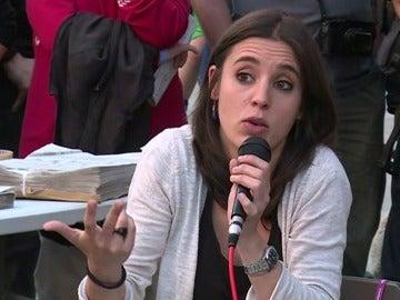 La diputada de Podemos, Irene Montero.