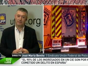 """José María Benito: """"Los funcionarios avisaron que lo ocurrido en el CIE de Aluche iba a ocurrir"""""""