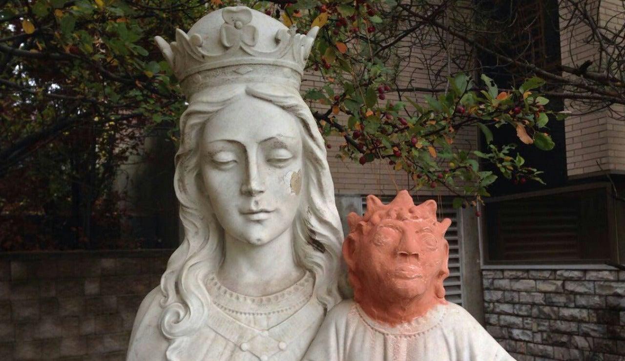 Restaura con arcilla una escultura de Jesús realizada en mármol y convierte la obra en el nuevo 'Ecce Homo'