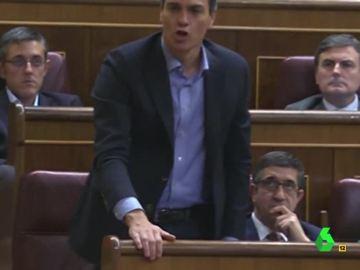 """""""No sé"""", la respuesta de Pedro Sánchez en la primera votación de investidura de Mariano Rajoy"""