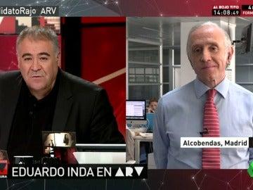 """Eduardo Inda: """"Hemos visto a un Pablo Iglesias más chulesco, macarra y más echado al monte que nunca"""""""